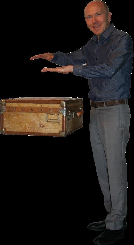 Hugo Caszar, Magicien et Mentaliste, fait léviter une valise